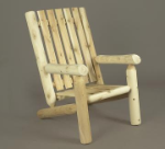 Northern Cedar High Back Log Adirondack Chair
