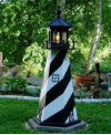 Amish 4 Foot Wooden Lightouse