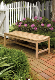 Shorea Wooden Outdoor Bench Without Messmers Stain
