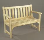Northern White Cedar 4' English Garden Bench