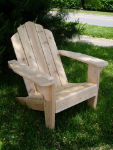 Clarks Big Red Classic Adirondack Chair (Red Western Cedar)