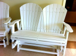 Amish Polywood Adirondack 4' Foot Glider Bench