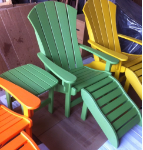 Pawleys Sunrise Stationary Polywood Adirondack Chair