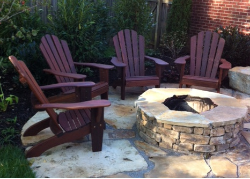 Katelyn Ipe Adirondack Chairs and Firepit