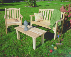 Northern Cedar Camel Back Garden Chair