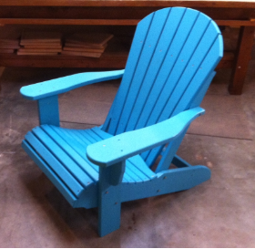 Amish Polywood Stationary Fanback Adirondack Chair