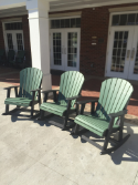 Amish Polywood Adirondack Rocking Chairs