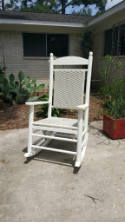 Polywood Jefferson White Loom Rocker