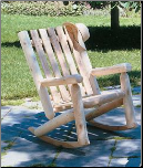 Cedar Log High Back Rocker