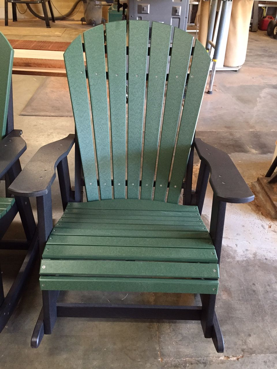 Amish Poly Adirondack Rocking Chair Clarks