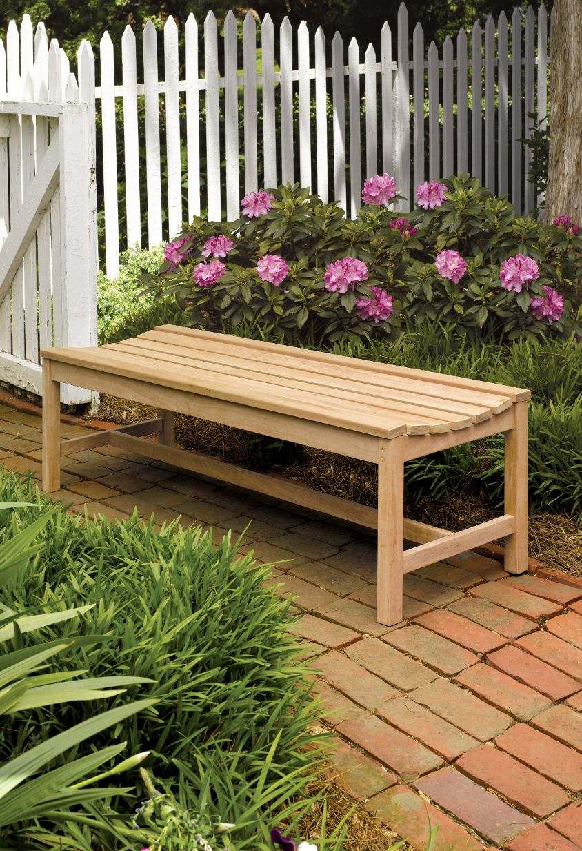 shorea wood bench without stain