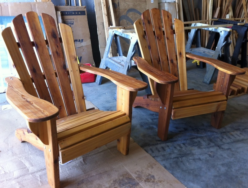 Click to enlarge image(s) & Katelyn Red Western Cedar Adirondack Chair