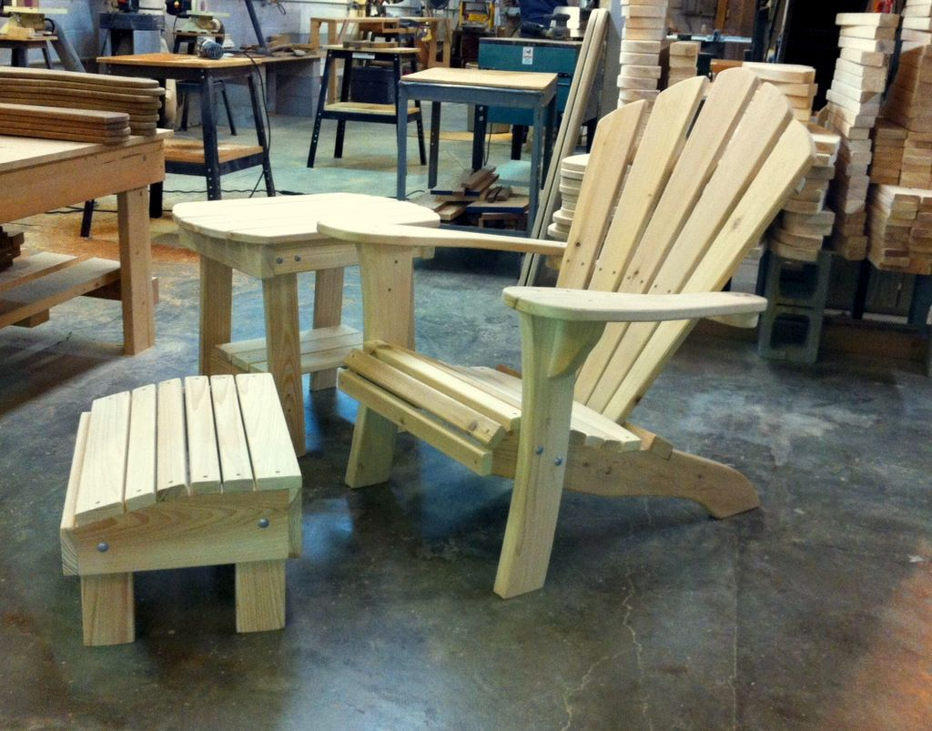 Crestwood Adirondack Chair and Multi Ottoman