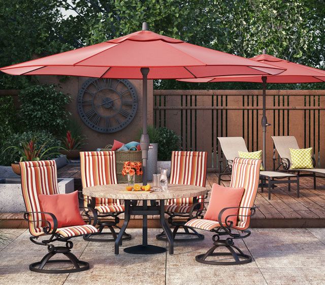 Homecrest Outdoor Living Aluminum Emory Collection. Emory Aluminum Padded  Sling Chairs