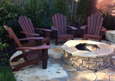 wooden fire pit chairs 2