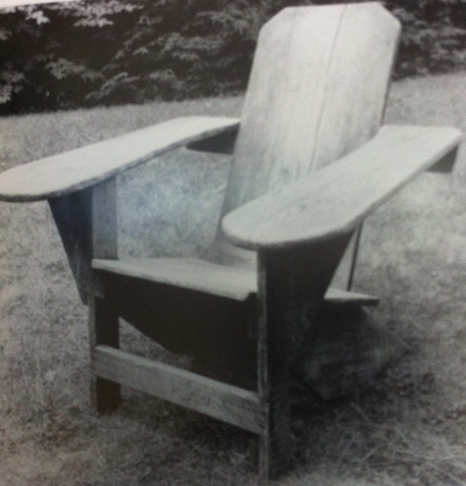 Prototype of 1903 Westport Chair Made By Thomas Lee & Adirondack Chair History - Clarks Westport Adirondack Chairs
