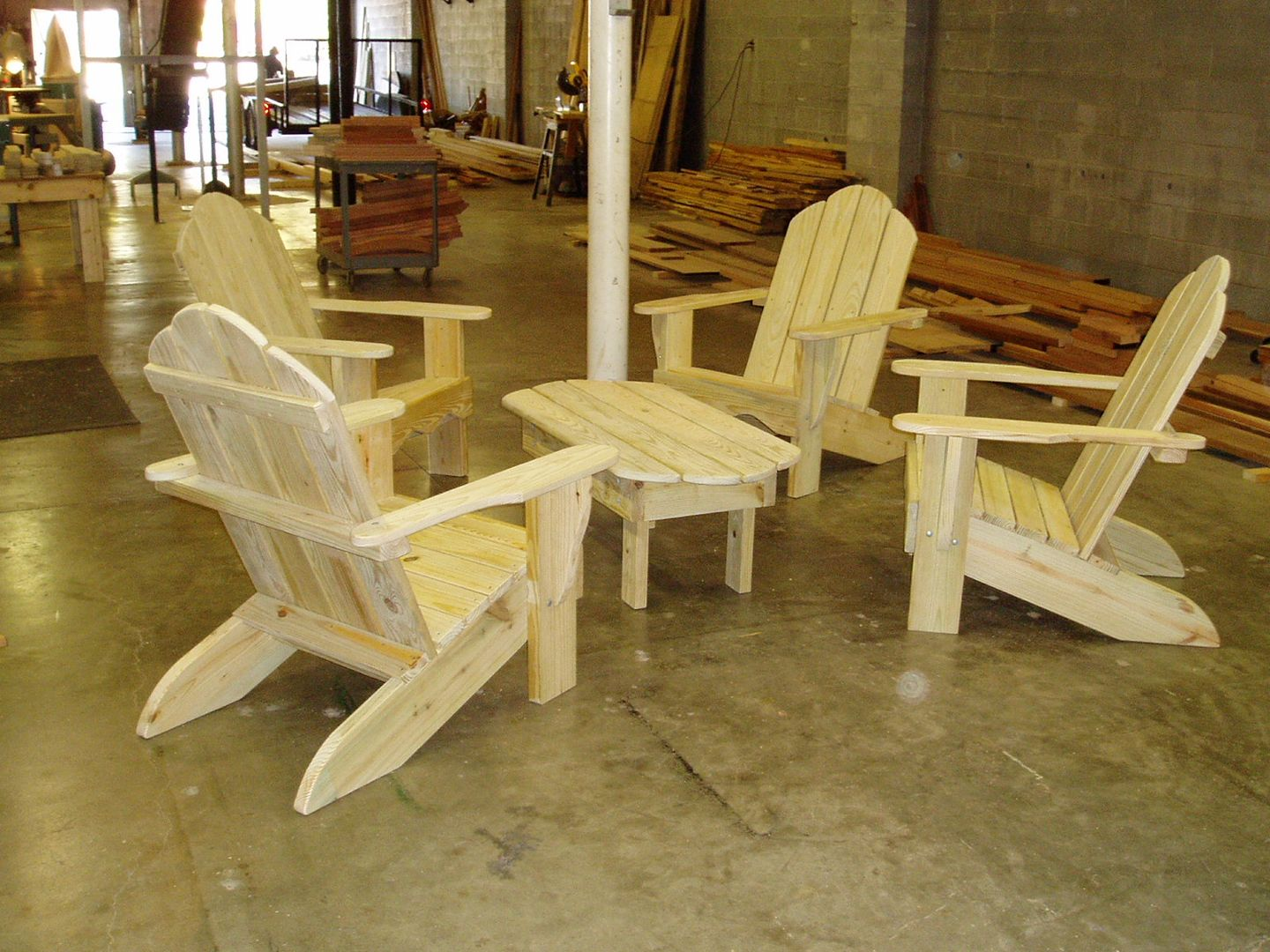 Treated Pine Adirondack Chairs