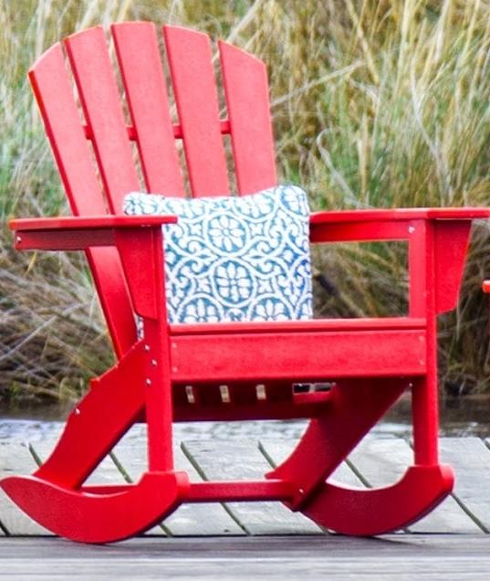 polywood palm coast adirondack rocking chair - Adirondack Rocking Chair