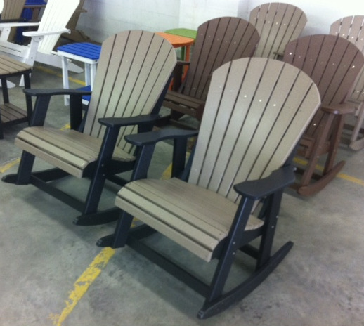 Attirant Amish Polywood Adirondack Rocking Chairs