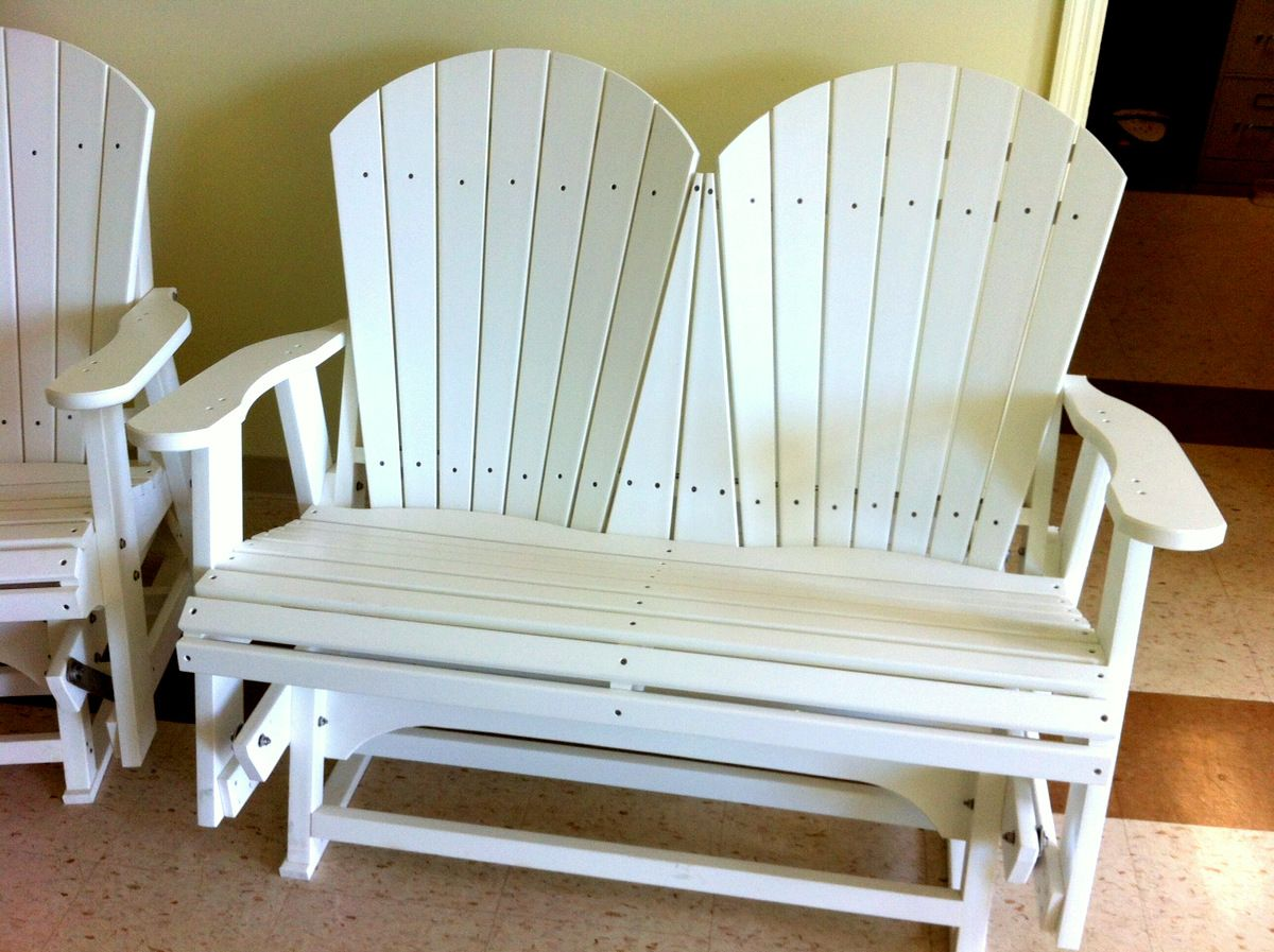 shown backless in traditional inch sand polywood bench