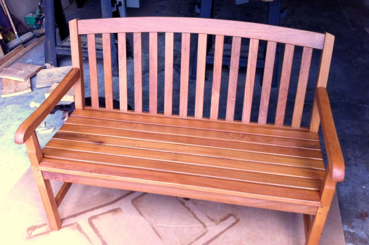 shorea bench with messmers stain