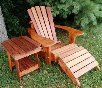 Charm Table and Charmed Adirondack Chair