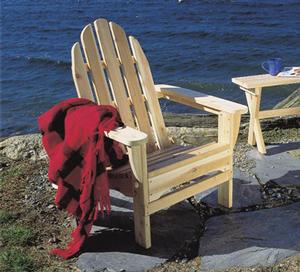 Heavy Duty Sun Lounger, Rustic Northern White Cedar Folding Classic Adirondack Chair