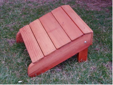 Big Red Classic Ottoman (Red Western Cedar)