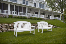 Polywood Inc 4 and 5 Foot Nautical Benches