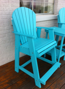 Amish Poly Lumber Adirondack Balcony Arm Chair