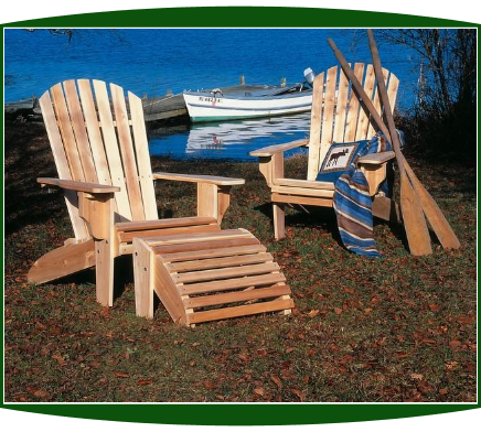 Rustic Northern Cedar Fanback Oversized Adirondack Chair