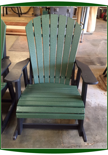 Amish Poly Lumber Adirondack Rocking Chair