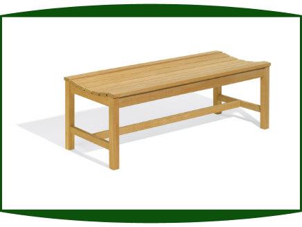 Shorea Wood 4' Backless Bench