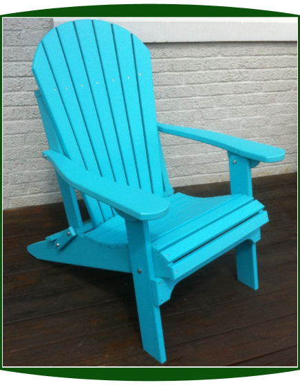Amish Poly Lumber Folding Adirondack Chair