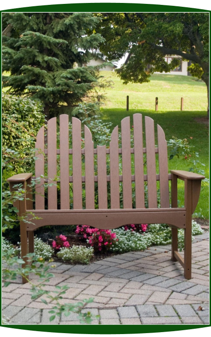Polywood Inc Classic Adirondack 4 Foot Bench