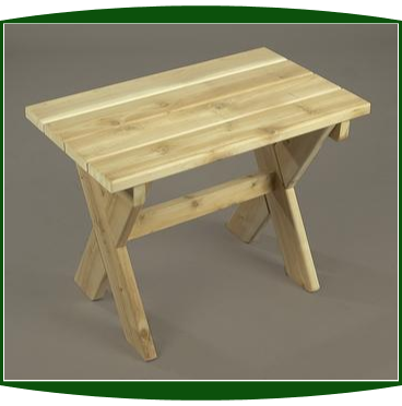 Northern White Cedar Rectangle Side Table