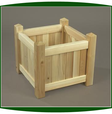 "Northern White Cedar 21"" Square Planter Box"