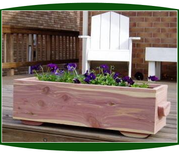 3 Foot Cedar Planter Box