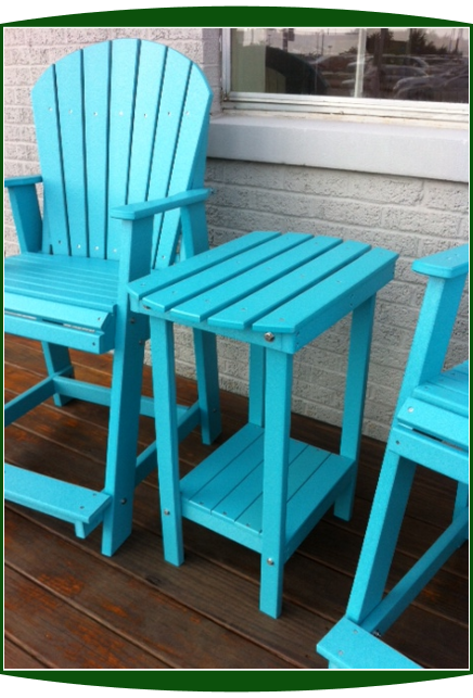 Amish Poly Adirondack Balcony Side Table