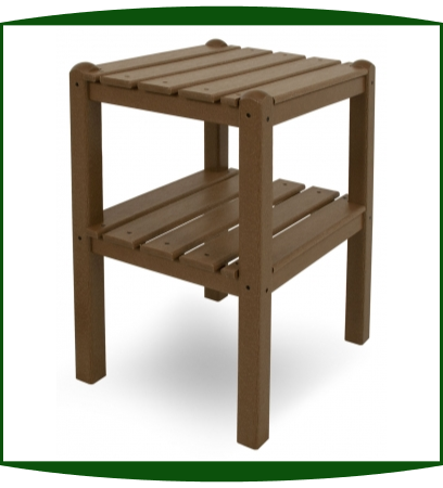 Polywood LLC Two Shelf Side Table