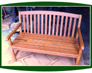 Shorea Wood Outdoor Bench With Messmers Stain