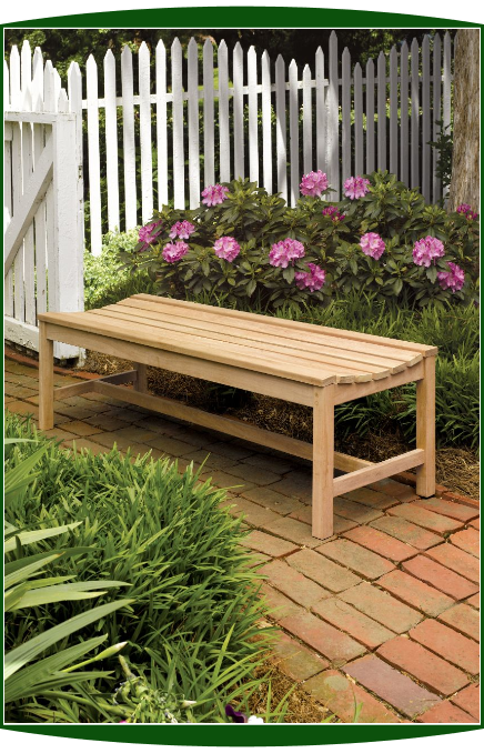 Shorea Wood 5' Backless Bench