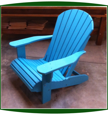 Amish Poly Lumber Stationary Fanback Adirondack Chair