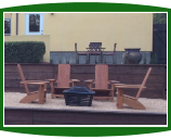 Firepit and Westport Adirondack chairs