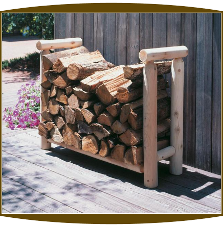 3 Foot Log Firewood Rack