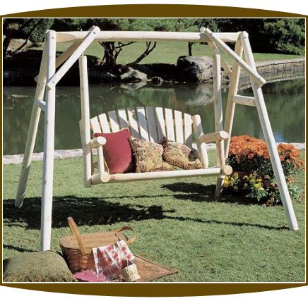 5' Northern White Cedar Log Swing and Frame