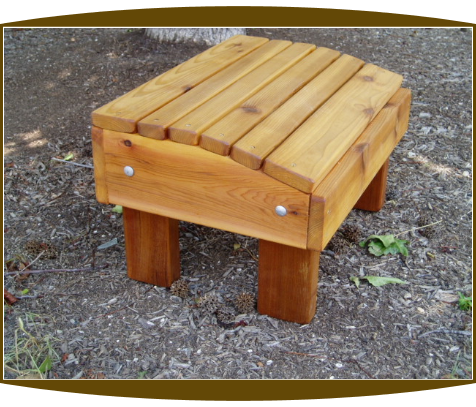 Multi Purpose Ottoman (Red Western Cedar)