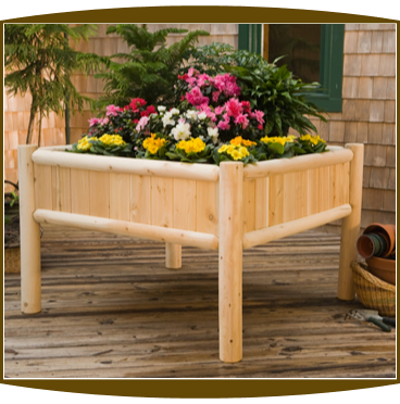 4' Foot Square Cedar Raised Garden Planter