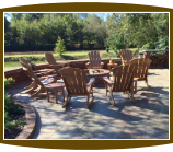 Firepit and Polywood Rocking Chairs