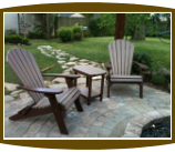 Polywood Adirondack chairs and firepit